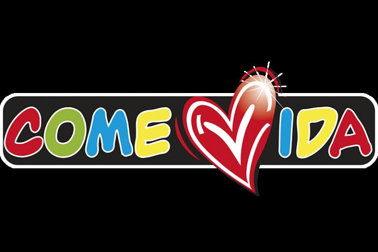 Logotipo ComeVida (con un corazon grande)