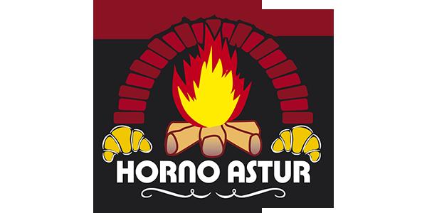Logotipo Horno Astur (imagen con chimenea/horno de leña)