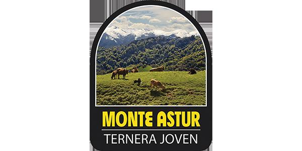 Logotipo Monte Astur (campo con vacas)