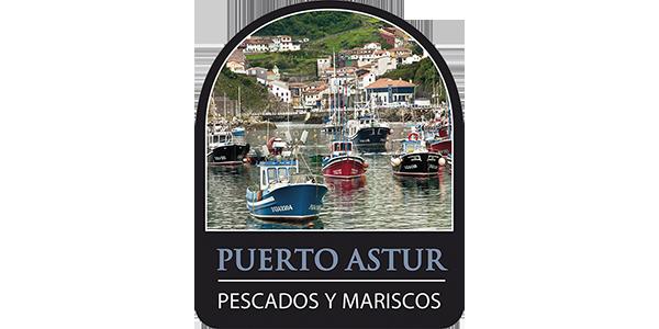 Logotipo Puerto Astur (foto de tipico puerto asturiano)