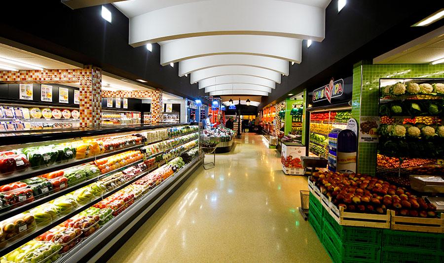Tienda ArcoPlaza. Sección frutería y verduras