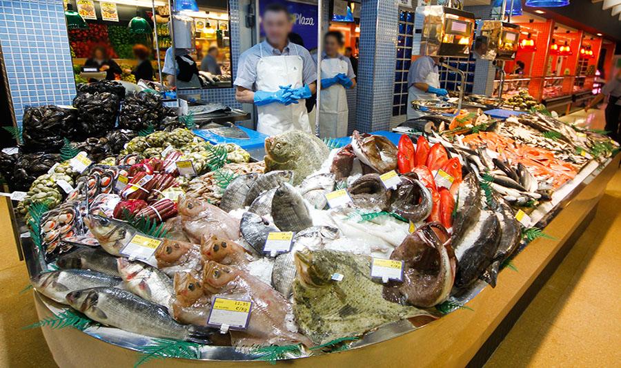 Tienda ArcoPlaza. Sección pescadería
