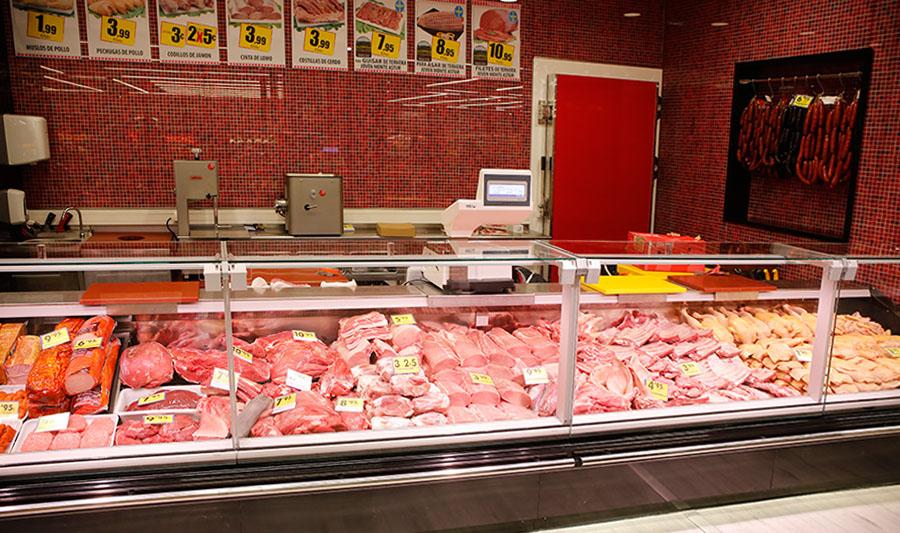 Tiendas El Economato. Mostrador de carnicería