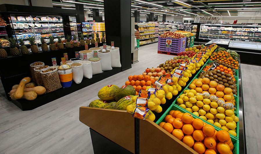 Tiendas El Economato. Sección frutas