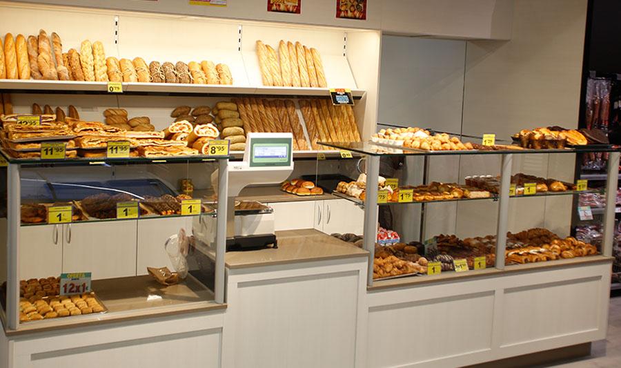 Tiendas El Economato. Sección panadería