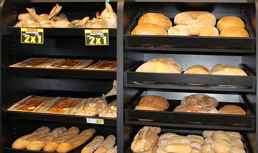 Tiendas Los Congelados Pingu. Sección panadería
