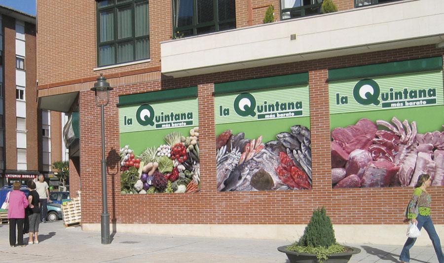 Tiendas La Quintana. Fachada